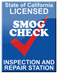 State of California Licensed Smog Check Inspection and Repair Station