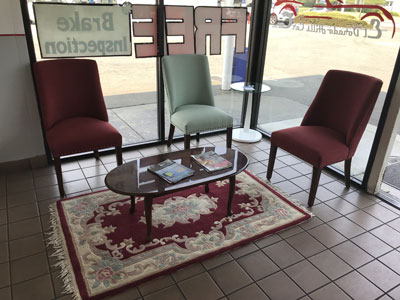 El Dorado Hills Car Care | Customer Waiting Area | 916-933-0835 | El Dorado Hills, CA 95762